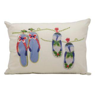 Mina Victory Flip-Flops Outdoor Throw Pillow