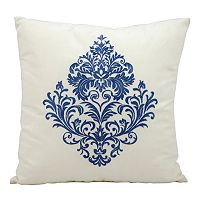 Mina Victory Floral Scroll Outdoor Throw Pillow