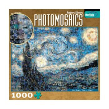 Buffalo Games 1000-pc. Starry Night Photomosaics Jigsaw Puzzle