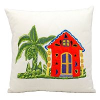 Mina Victory Beach House Outdoor Throw Pillow
