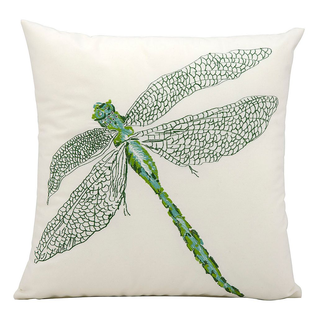 Mina Victory Dragonfly Outdoor Throw Pillow