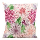 Mina Victory Fantasty Floral Outdoor Throw Pillow