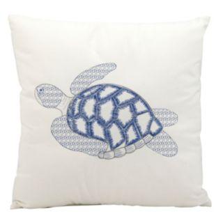 Mina Victory Sea Turtle Outdoor Throw Pillow