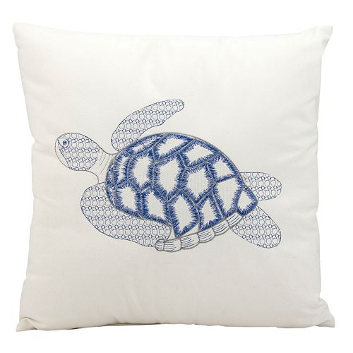 Mina Victory Sea Turtle Outdoor Throw Pillow