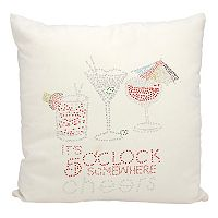 Mina Victory ''It's 5 O'Clock Somewhere'' Outdoor Throw Pillow