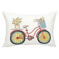 Mina Victory Bicycle Outdoor Throw Pillow