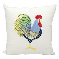 Mina Victory Rooster Outdoor Square Throw Pillow