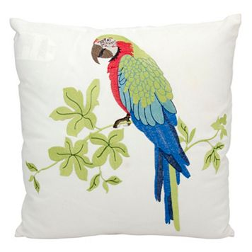 Mina Victory Parrot Outdoor Throw Pillow