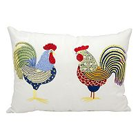 Mina Victory Rooster Outdoor Rectangular Throw Pillow