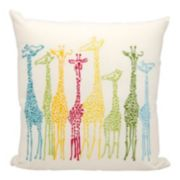 Mina Victory Giraffe Outdoor Throw Pillow