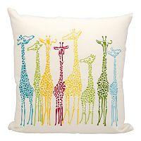 Mina Victory Giraffe Outdoor Throw Pillow
