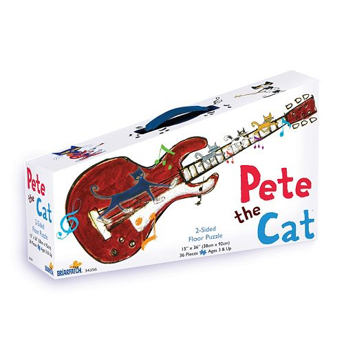 Briarpatch 36-pc. Pete the Cat 2-Sided Floor Puzzle Suitcase