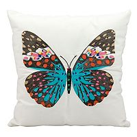 Mina Victory Butterfly Outdoor Throw Pillow