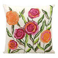 Mina Victory Rose Outdoor Throw Pillow