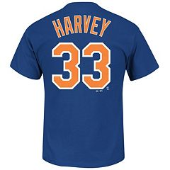 Majestic New York Mets Matt Harvey Player Name and Number Tee - Men