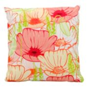 Mina Victory Primrose Flowers Outdoor Throw Pillow
