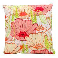 Mina Victory Primrose Flowers Outdoor Throw Pillow