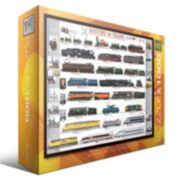 Eurographics 1000-pc. History of Trains Jigsaw Puzzle