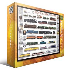 Eurographics 1000 pc History of Trains Jigsaw Puzzle