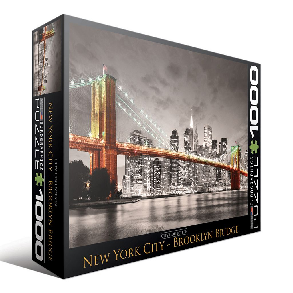 Eurographics 1000-pc. City Collection New York City Brooklyn Bridge Jigsaw Puzzle