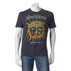 Men's Sublime Stamp Sun Logo Band Tee