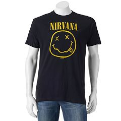 Men's Nirvana Smile Logo Band Tee