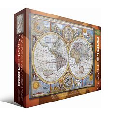 Eurographics 1000 pc Antique World Map Jigsaw Puzzle