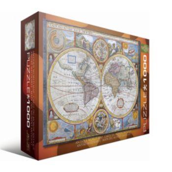 Antique World Map Puzzle.Eurographics 1000 Pc Antique World Map Jigsaw Puzzle