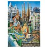 Educa 1000-pc. Miniature Series Antoni Gaudi Collage Jigsaw Puzzle