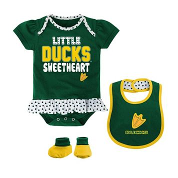 Baby Girl Oregon Ducks Bodysuit Set