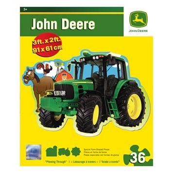 MasterPieces John Deere Plowing Through 36-pc. Floor Puzzle