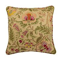 Waverly Imperial Dress Jacobean Floral Throw Pillow