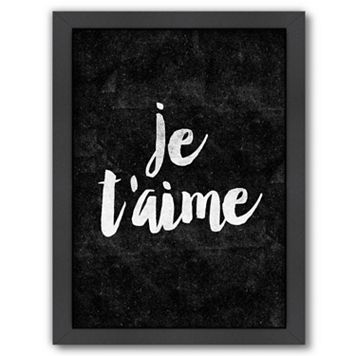 Americanflat ''Je T'aime'' Framed Wall Art