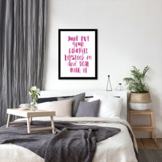 Americanflat ''Just Put Your Favorite Lipstick On and Deal With It'' Framed Wall Art