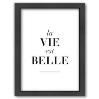 Americanflat ''La Vie est Belle'' Framed Wall Art
