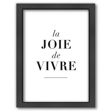 Americanflat ''La Joie de Vivre'' Framed Wall Art