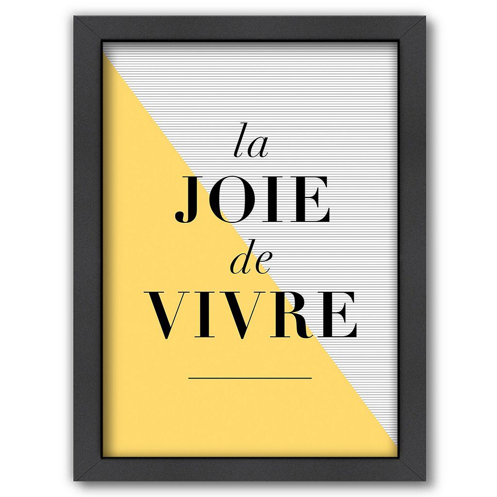 Americanflat ''La Joie de Vivre'' Yellow Framed Wall Art