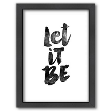 Americanflat ''Let It Be'' Framed Wall Art