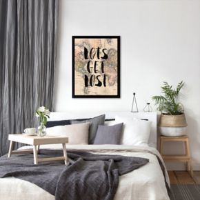 Americanflat ''Lets Get Lost'' Framed Wall Art