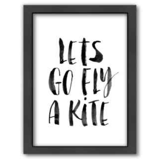 Americanflat ''Lets Go Fly a Kite'' Framed Wall Art