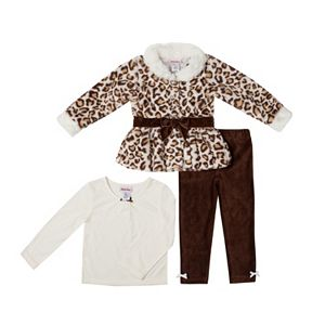 Baby Girl Little Lass Jacket, Tee & Leggings Set