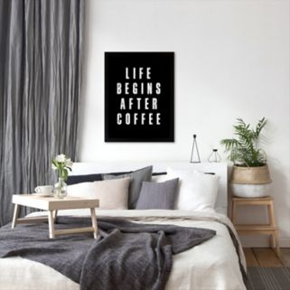 Americanflat ''Life Begins After Coffee'' Framed Wall Art