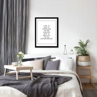 Americanflat ''Life Is Not a Problem To Be Solved But a Reality To Be Experienced'' Framed Wall Art