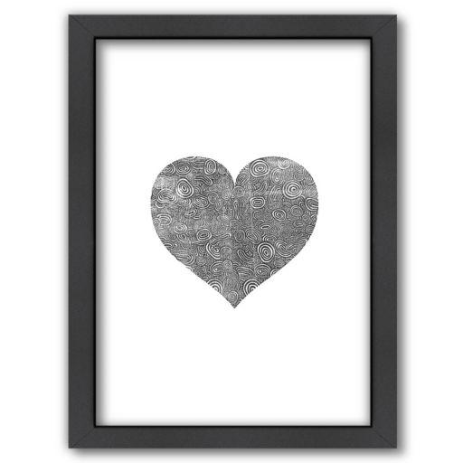 Americanflat Love Heart Swinging Framed Wall Art