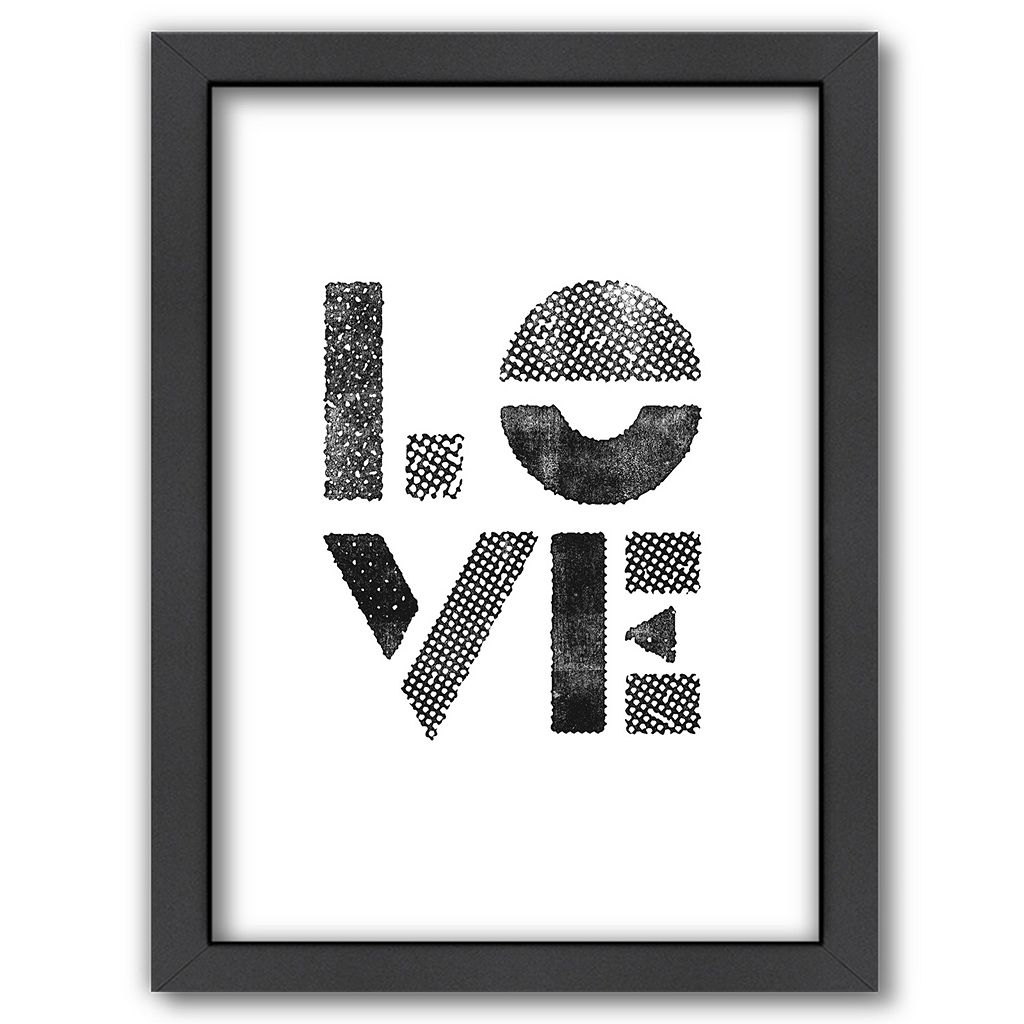 Americanflat ''Love'' Stamp Framed Wall Art