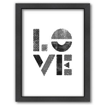 Americanflat ''Love'' Stamp Framed Wall Art