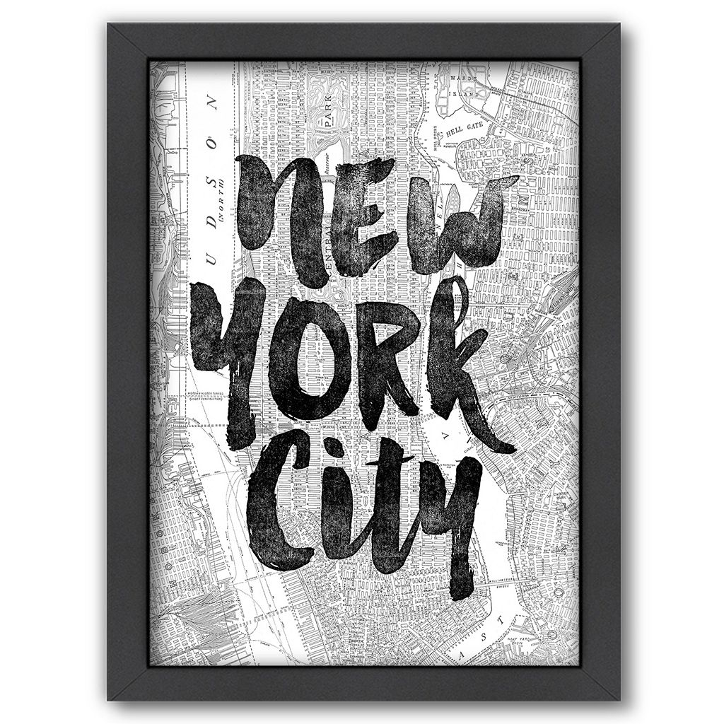 Americanflat ''New York City'' Map Framed Wall Art