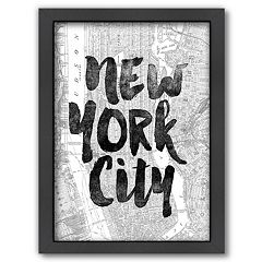 Americanflat ''New York City'' Map Framed Wall Art