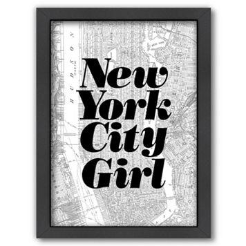 Americanflat ''New York City Girl'' Framed Wall Art