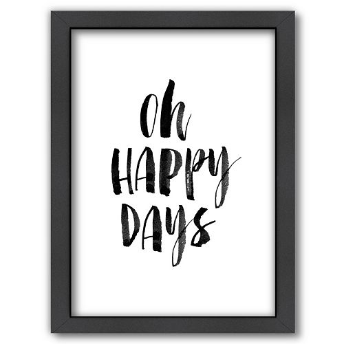 Americanflat ''Oh Happy Days'' Framed Wall Art